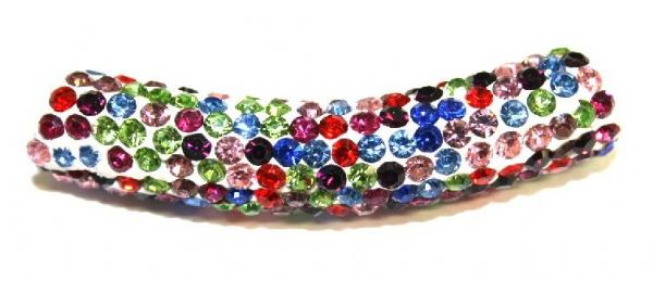 10mm x 45mm 198 St - Pave Crystal Spacer Tube - multi-colour - 1045024 - SM03
